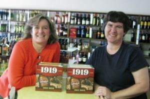 Sheila Scarborough and Becky McCray at her liquor store. Photo by Laurie Reyes.