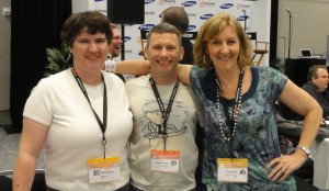 Authors Becky McCray (Small Town Rules), Jason Womack (Your Best Just Got Better), and Pam Slim (Escape from Cubicle Nation) at South by Southwest. Photo by Chris Guillebeau (The $100 Startup).