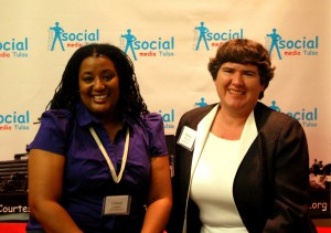 Cheryl Lawson and Becky McCray at the first Social Media Tulsa Conference. Photo by Captured Charms