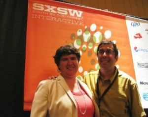Me and Barry Moltz at SXSW. Photo by Sheila Scarborough.