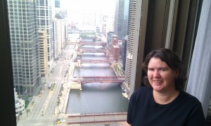 Becky McCray in Chicago. Photo by Leslie McLellan.