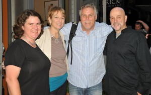 Becky McCray with Liz Strauss, Mark Horvath and Hank Wasiak in New York