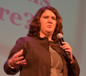 Becky McCray speaking at the 2012 SmallTown conference. Photo by Alan Weinkrantz.