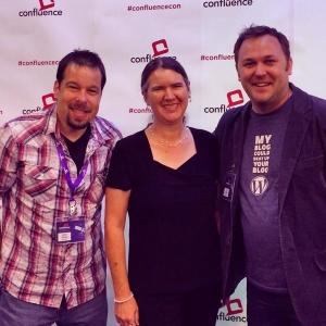 James Dalman, Becky McCray and Cory Miller at ConfluenceCon.