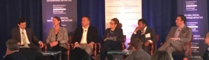 At the National Summit on Rural Entrepreneurship, Becky McCray answers an audience question. Photo by Georgetown GSEI.