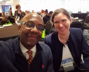 Small Biz Guru Ramon Ray and Becky McCray pause for a selfie at SMTulsa