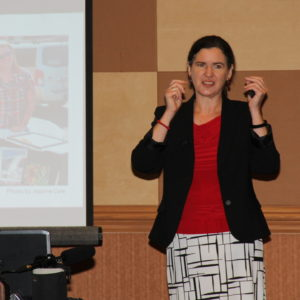 Becky McCray speaking at Workforce Partners Conference