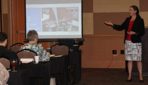 Becky McCray speaking at Workforce Partners Conference, Oklahoma.
