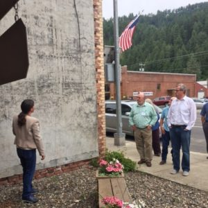 Becky McCray leads a group of regional leaders through downtown Kendrick, Idaho