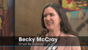 Becky McCray being interviewed on Oklahoma Horizon TV