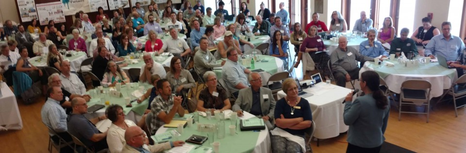 Becky McCray keynoting a sold-out session at the Inland Northwest Partners. Photo by Monica Babine.