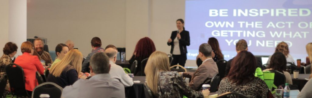 Becky McCray helps the audience get the most out of SMTulsa Conference.