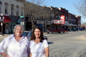 Deb Brown and Becky McCray in Webster City, Iowa