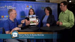 Becky McCray and Barry Moltz appearing on Geek Beat TV